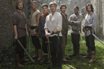 THIS PICTURE IS UNDER EMBARGO UNTIL SAT 27th NOVEMBER 2010 Picture shows: Sir Leon (Rupert Young), Percival (Tom Hopper), Merlin (Colin Morgan) Prince Arthur (Bradley James), Lancelot (Santiago Cabrera), Elyan (Adetomiwa Edun) and Gwaine (Eoin Macken). TX: BBC One Week 49