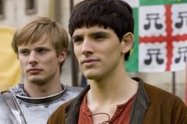 "MERLIN -- ""Lancelot"" Episode 1.5 -- Pictured: (l-r) Bradley James as Arthur, Colin Morgan as Merlin -- NBC Photo: Nick Briggs"