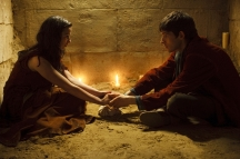THIS IMAGE IS NOT FOR PUBLICATION UNTIL TUESDAY 17TH NOVEMBER, 2009 Picture shows: Merlin (Colin Morgan) & Freya (Laura Donnelly) TX: BBC One